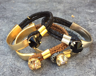 <strong>Leather and Crystal</strong>