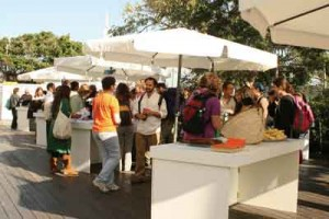 Networking at the Food for Thought Conference. Photo courtesy of David Lehrer.