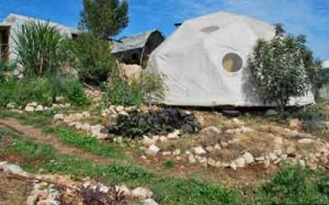 The yurt-like domes at Hava ve-Adam. Photo courtesy of Hava ve-Adam.