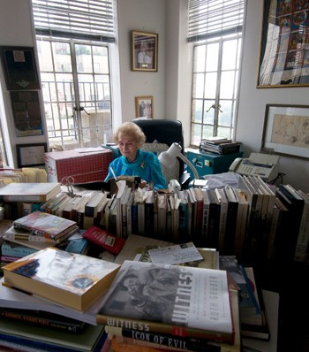 Ruth Gruber in her New York apartment. Photo courtesy of Reel Inheritance Films