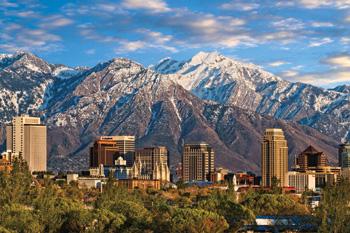 Mountain-ringed Salt Lake City. Photo courtesy of Utah Office of Tourism.