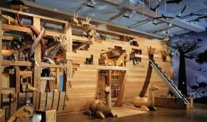 Noah's Ark gallery. Photos courtesy of the Skirball Cultural Center.
