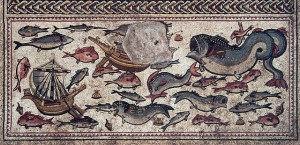 End panel of the mosaic floor Nicky Davidov/Courtesy of the Israel Antiquities Authority
