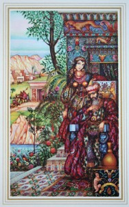 Esther and Mordechai.  Le Livre d'Esther. Paris, 1925 Reproduced with the cooperation of  The Arthur Szyk Society, www.szyk.org