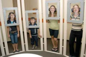 Experiencing deafness at the children's museum. Photo courtesy of Israel Children's Museum.