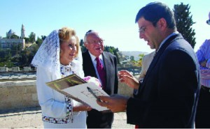 Farber (at right) also helps Americans who want a wedding in Israel. Courtesy of ITIM