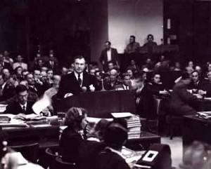 Justice Robert Jackson at the Nuremberg trial.
