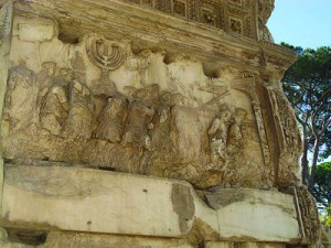 A relief on the Arch of Titus.