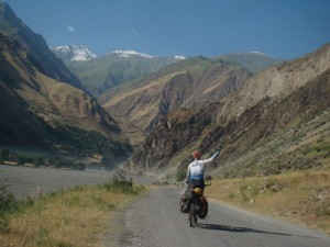 Sadan on his way to the Pamir Mountains in Central Asia/All photography by Roei Sadan
