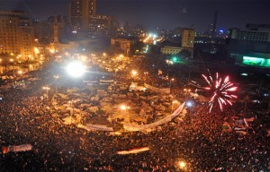 Cairo's Tahrir Square. Photo by Jonathan Rashad/Wikimedia Commons.