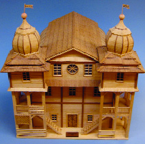 Model of Gombin Synagogue, built in 1710; destroyed by the Nazis in 1939. All images  courtesy of Jewish Museum of Florida.
