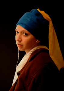 Limor Betzalel's modern take on Vermeer's 'Girl with the Pearl Earring.' All images courtesy of Bezalel Academy of Arts and Design.