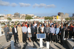 The rededication of the Jewish cemetery in Cape Verde. Photo courtesy of CVJHP