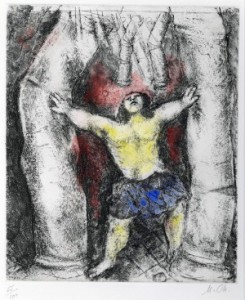 Samson Destroys the Temple, The Bible Series,' Haggerty  Museum of Art, Gift of Patrick and Beatrice Haggerty  Marc Chagall © 2012 Artists Rights Society (ARS)  New York / ADAGP, Paris.