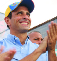 Henrique Capriles Radonski. Photo courtesy of the Capriles Campaign.