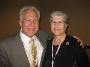 Incoming Hadassah Associates President Jeffrey Richardson,  with Bobbie Richardson.