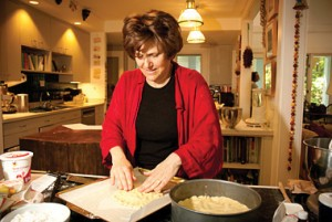 Joan Nathan in the kitchen. Photograph by Kristian Whipple.