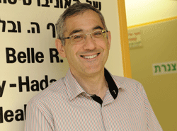 Yehuda Neumark, director of Hadassah's Braun School  of Public Health and Community Medicine. Photograph by Debbi Cooper.