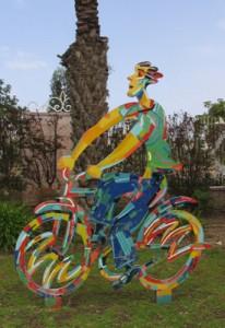 The sculpture garden at Mediatech. Photo by Esther Hecht.