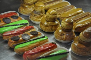 Eclairs and other delights at Contini. All photos by Paula Shoyer.