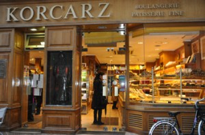 Korcarz is the oldest kosher pastry shop in Paris.