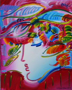 'Beauty on Pink,' Version IX, #14, 2012,  acrylic on canvas 60 x 48 inches.