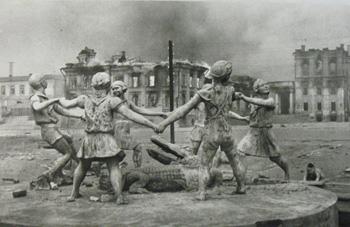 'Memories of a Peaceful Time, Stalingrad,'  Emmanuel Evzerikhin. Loan from Teresa and Paul Harbaugh. Photo: CU Art Museum.