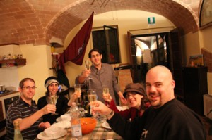 Chef Avicam Gitlin (center) and culinary tourists enjoying one of his food tours. All photos courtesy of Avicam Gitlin