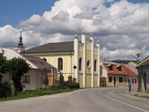 The nearly restored synagogue in Spisske Podhradie.