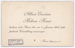 An invitation to Einstein's 1908 wedding, now online along  with thousands of other documents and photos.