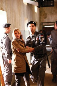 Claire Danes in a scene filmed in Israel in the first season of 'Homeland.'
