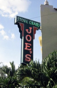 Joe's Stone Crab in Miami Beach.