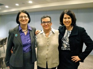 (from left) Rabbi Ellen Flax, Susan Weiss and Donna Gerson. Photo courtesy of Rabbi Ellen Flax.