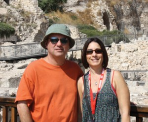 Lisa and Josh Davidson, in Israel. Photo courtesy of Lisa Davidson.