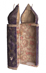 Minaret-shaped Torah case. Courtesy  of the Museum of Jewish Heritage– A Living Memorial to the Holocaust.