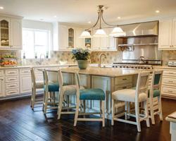 The eco-bungalow's stunning kitchen. Photo by Matt Armendariz