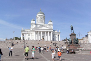 Helsinki's iconic cathedral.