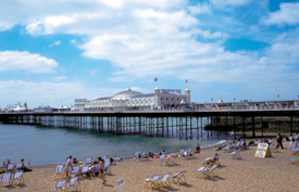 The Brighton Pier. Photo courtesy of www.visitbrighton.com.