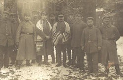 Friedrich 'Fritz' Adler photographed fellow Jewish officers and soldiers—some wearing talitot—in the German 25th Infantry Division. Photo courtesy of Jeffrey Adler, Marvin Adler and Stephanie Adler Greenstein.