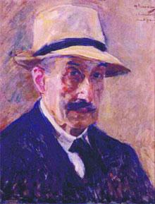 Still Dapper 'Self-Portrait in a Straw Hat' from 1929; (opposite page) 'Ropewalk in Edam.