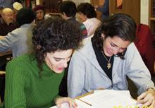 Women learning at Drisha Institute, New York