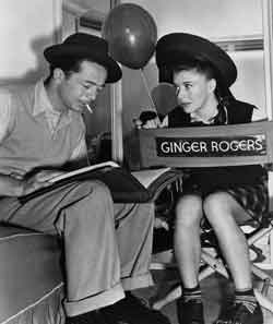 Billy Wilder and Ginger Rogers on the set of 'The Major and the Minor.' © Paramount Pictures/Courtesy of the Margaret Herrick Library, Academy of Motion Picture  Arts and Sciences.
