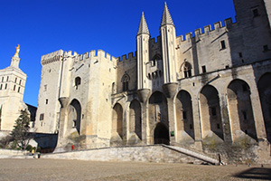 The Palais des Papes. All photos Courtesy of Alain Hocquel/Collection CDT Vaucluse.