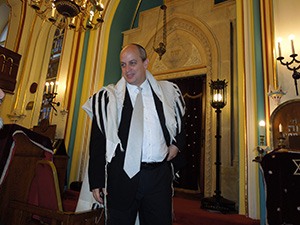 Rabbi Tamas Vero of Budapest's Frankel Synagogue.