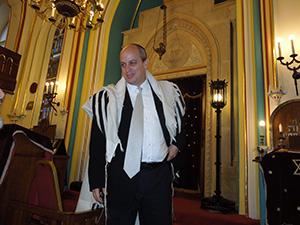 Rabbi Tamas Vero of Budapest's Frankel Synagogue.