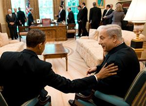 Obama (left) and Netanyahu.