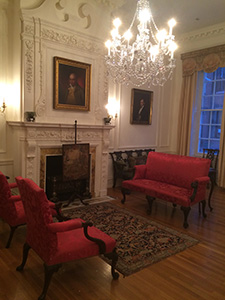 The parlor in the Rosenbach museum. Photo by Rahel Musleah.