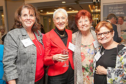 Hadassah President Marcie Natan (second from left) with celebrants at Hadassah's housewarming party.