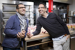 Yotam Ottolenghi (right) and Sami Tamimi.