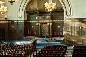Rodef Shalom was Pittsburgh's first synagogue. Photo courtesy of Rodef Shalom.